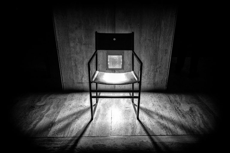 Artistic black and white chair photography